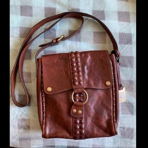 Frye Dark Brown Leather Satchel